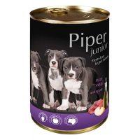 Piper Junior премиум консервирана храна за малки кученца, телешко/ябълки – 400 гр