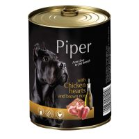 Piper премиум консервирана храна за кучета – пилешки сърца/кафяв ориз- 400 гр