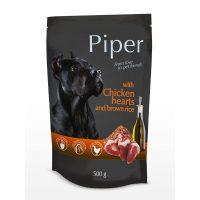 Piper пауч – премиум консервирана храна за кучета – пилешки сърца/кафяв ориз –  500 гр