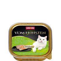Пастет за котки Von Feinsten 2 в 1 от Animonda, Германия, пуйка + пилешки гърди с билки – 100 гр