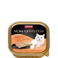 Пастет за котки Von Feinsten 2 в 1 от Animonda, Германия, пиле + сьомга със спанак – 100 гр