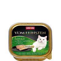 Пастет за котки Von Feinsten 2 в 1 от Animonda, Германия, говеждо + сьомга и спанак – 100 гр