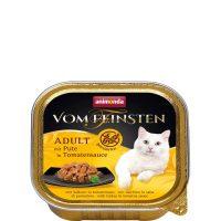 Пастет за котки Von Feinsten Grain Free от Animonda, Германия, пуйка +доматен сос, 100 гр