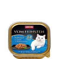 Пастет за котки Von Feinsten Grain Free от Animonda, Германия, сьомга + билков сос, 100 гр