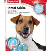Beaphar Dental Sticks Small – 7 бр., 112гр, дентални пръчки за свеж дъх и чисти зъби –  със Спирулина и зелен чай