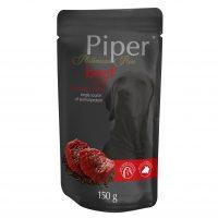 Piper Platinum Pure пауч при чувствителна храносмилателна система  – с телешко и кафяв ориз-150 гр