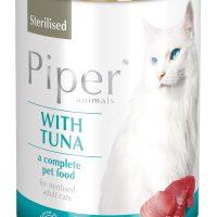 Консерва за кастрирани котки Piper Sterilized -риба тон –  400 гр