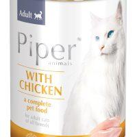 Консерва за котки и малки котенца Piper  – с пиле, 400 гр