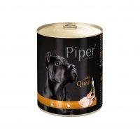 Piper премиум консервирана храна за кучета,   пъдпъдък – 800 гр