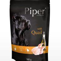 Piper пауч – премиум консервирана храна за кучета – пъдпъдъци – 500 гр