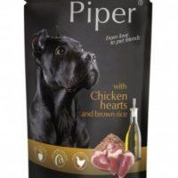 Piper пауч – премиум консервирана храна за кучета – пилешки сърца/кафяв ориз- 150 гр