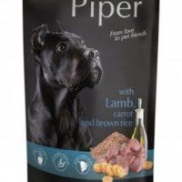 Piper пауч – премиум консервирана храна за кучета –  агне/морков/каф.ориз- 150 гр