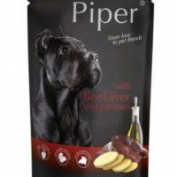 Piper пауч – премиум консервирана храна за кучета – телешки дроб/картофи- 150 гр