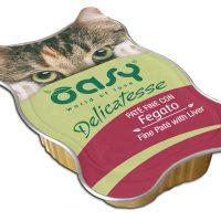 Пастет Oasy Cat с дивеч – 85 гр