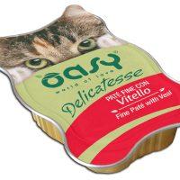 Пастет Oasy Cat телешко – 85 гр