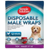 Памперс за мъжки кучета Simple Solution, XS/Toy 12бр, 23 – 36 см