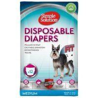 Памперс за женски кучета Simple Solution, М 12бр