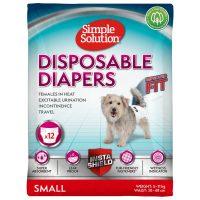 Памперс за женски кучета Simple Solution, S 12бр