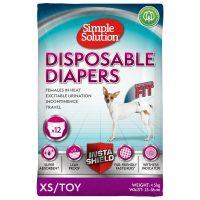 Памперс за женски кучета Simple Solution, XS/Toy, 12 бр
