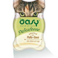 Пастет за котка Oasy Delicatesse Suffle Chicken & Eggs  –  85 гр