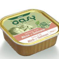 Пастет за котка Oasy Adult Tasty Pate със сьомга, 100 гр