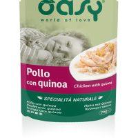 Пауч за котка OASY Specialita Naturali с пилешко месо и ябълки, 70 гр