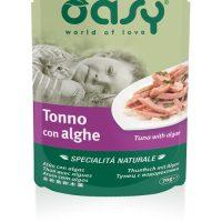 Пауч за котка OASY Specialita Naturali с риба тон, морски водорасли, ориз, 70 гр