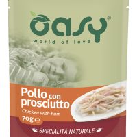 Пауч за котка Oasy Cat Specialita Naturale пиле и шунка, 70 гр