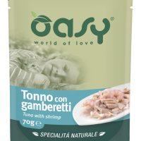 Пауч за котка Oasy Cat Specialita Naturale риба тон и скариди, 70 гр