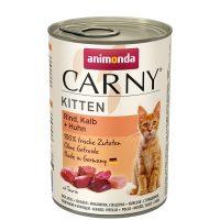 Консерва за котка Animonda Carny Kitten 100% месо за малки и млади котенца- пиле + телешко, 400гр