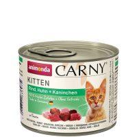 Консерва за котка Animonda Carny Kitten 100% месо за малки и млади котенца  – пиле + заек, 200гр