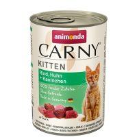Консерва за котка Animonda Carny Kitten 100% месо за малки и млади котенца- пиле + заек, 400гр