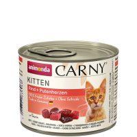Консерва за котка Animonda Carny Kitten 100% месо за малки и млади котенца-телешко + сърца, 200гр