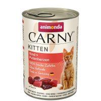 Консерва за котка Animonda Carny Kitten 100% месо за малки и млади котенца – говеждо + сърца, 400гр