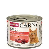 Carny Senior за котки над 7 години – говеждо и сърце – 200 гр