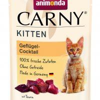 Пауч за котка Animonda Carny Kitten за малки,  птиче коктейл, 85 гр
