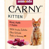 Пауч за котка Animonda Carny Kitten за малки, говеждо, телешко, пиле, 85 гр
