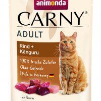 ПаучПауч за котка Animonda Carny Adult предлага апетитно, здравословно и балансирано хранене от най-високо ниво. Препоръчва се за писани от 1 до 6-годишна възраст. Подбраните пресни месни съставки гарантират несравнимия вкус за котка Animonda Carny Adult за израснали,говеждо и пиле, 85 гр