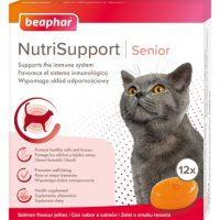 Желирани капсули за котка Beaphar NutriSupport Senior Cat за възрастни за подсилване на имунната система, 12 бр