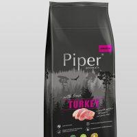 Piper Super Premium Junior Turkey 12кг – гр.храна за подрастващи кученца със свежо пуешко месо – 12 кг