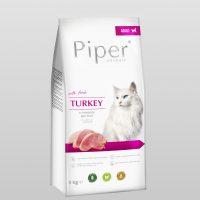 Piper Cat – гранулирана храна за котки с прясно пуешко месо, 3 кг