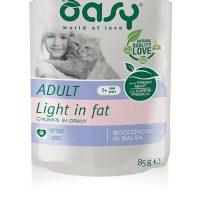 OASY Adult Bocconcini Light 85гр – пауч за израснали котки с птиче, свинско и риба, 12бр в стек