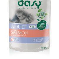 OASY Adult Bocconcini Salmon 85гр – пауч за израснали котки със сьомга, 12бр в стек