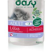 OASY Adult Bocconcini Lamb 85гр – пауч за израснали котки с агне, 12бр в стек