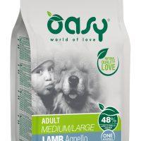 Храна за кучета Oasy Lamb Monoprotein Adult с агнешко за всички породи над 12 месеца – 12 кг