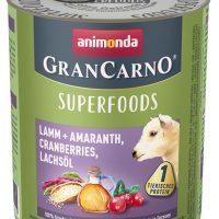 GranCarno Superfoods Lamb  – агне, амарант, червени боровинки, масло от сьомга-400 гр