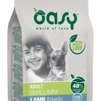 Храна за кучета Oasy Lamb Monoprotein Adult Mini с агнешко за мини породи над 10 месеца – 2.5кг
