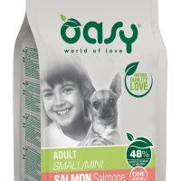 Храна за кучета Oasy Salmon Monoprotein Adult Mini със сьомга за мини породи над 10 месеца – 2.5кг