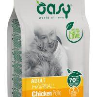 Храна за котка Oasy Cat Adult Hairball срещу космени топки в стомаха – 1.5 кг