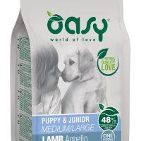 Храна за кучета Oasy Lamb Monoprotein Puppy&Junior с агнешко за всички породи до 12 месеца – 12кг